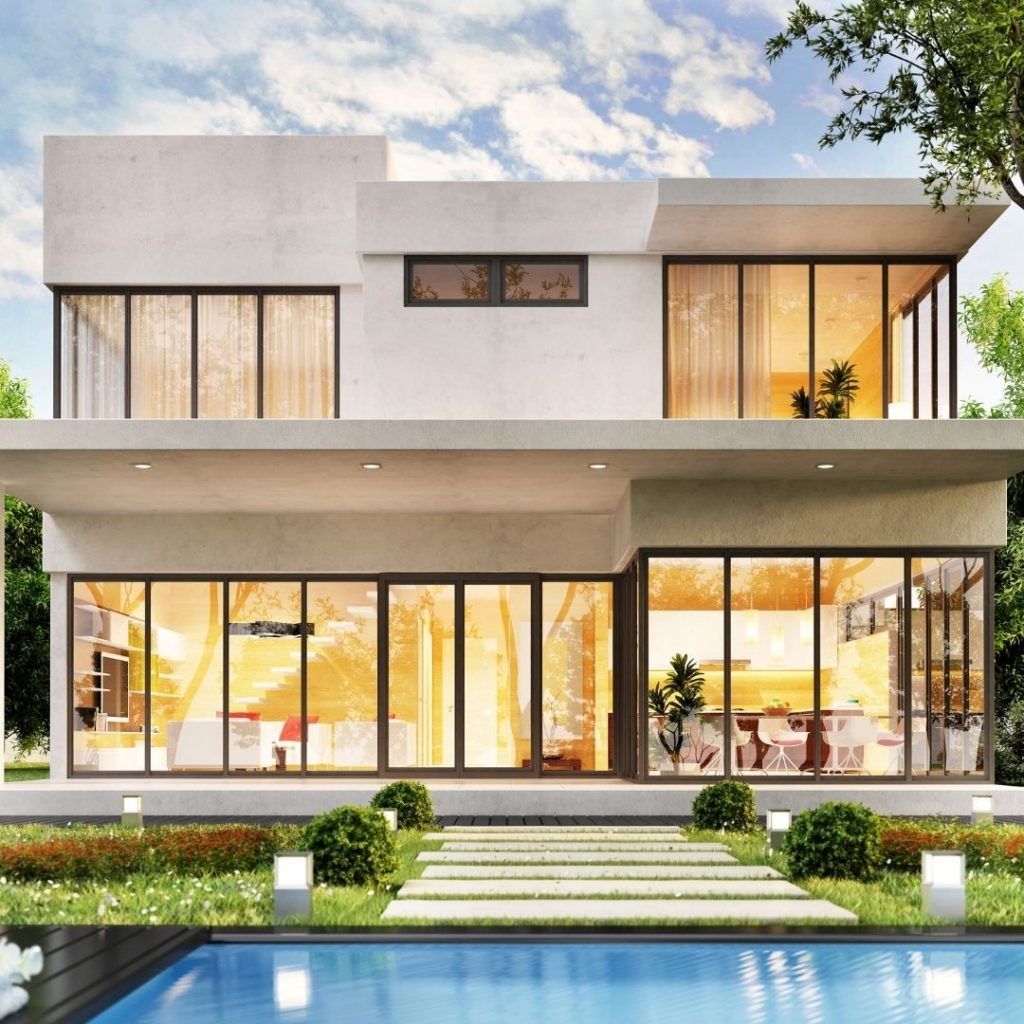 Beautiful modern house with pool | Featured image for Home Building Tips Blog